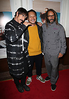 SANTA MONICA, CA - NOVEMBER 1: Anthony Kiedis, Takuji Masuda, Tony Alva, at the Los Angeles Premiere of documentary Bunker77 at the Aero Theater in Santa Monica, California on November 1, 2017. Credit: Faye Sadou/MediaPunch /NortePhoto.com