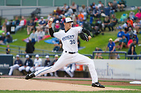 West Michigan Whitecaps pitcher Matt Manning (30) delivers a pitch during a game against the Fort Wayne TinCaps on September 2, 2017 at Fifth Third Ballpark in Comstock Park, Michigan.  West Michigan defeated Fort Wayne 2-0.  (Emily Jones/Four Seam Images)
