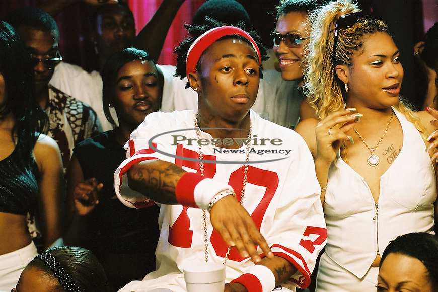 "Lil Wayne shooting the ""Way of Life"" video in New Orleans on April 14, 2002.  Photo by:  Presswire News/Elgin Edmonds"