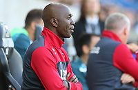 Swansea City assistant manager Claude Makelele during the pre-season friendly match between Swansea City and Sampdoria at The Liberty Stadium, Swansea, Wales, UK. 05 August 2017