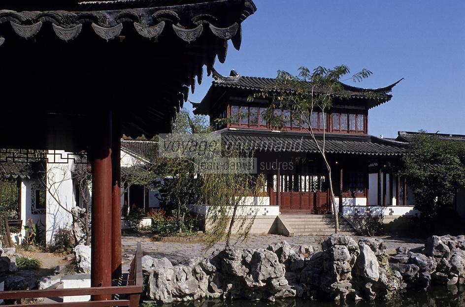 Asie/Chine/Jiangsu/Env Nankin: Jardin de Contemplation - Les jardins et la résidence du Roi de l'Est<br /> PHOTO D'ARCHIVES // ARCHIVAL IMAGES<br /> CHINE 1990