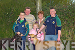 FAMILY TIME: The O'Connor family from Ballyduff Tommy, Maurice, Aoife, Catherine and Kevin hoping for winners at the Abbeydorney Coursing on Sunday... ..............................
