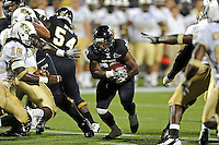 17 September 2011:  FIU running back Darriet Perry (28) carries the ball in the second half as the FIU Golden Panthers defeated the University of Central Florida Golden Knights, 17-10, at FIU Stadium in Miami, Florida.