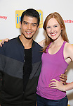 Telly Leung and Erin Mackey attend the photo Call for 'InTransit' at The New 42nd Street Studios on October 27, 2016 in New York City.
