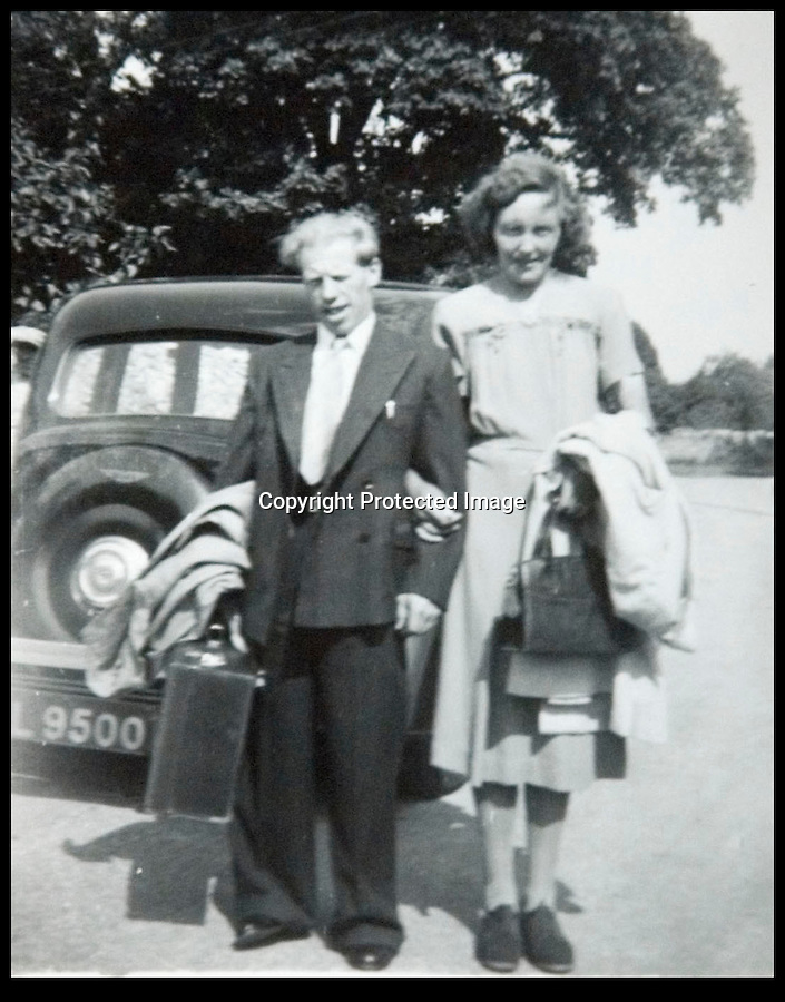 BNPS.co.uk (01202 558833)<br /> Pic: BNPS<br /> <br /> Ted with wife Betty in the late 40's.<br /> <br /> The world's oldest paperboy is planning his last round after 71 years of delivering his beloved local newspaper.<br /> <br /> Tireless Ted Ingram, 93, took up the part-time job when he was just 22 as an additional income but loved it so much he never gave it up.<br /> <br /> During his career he has dropped more than 500,000 newspapers through letterboxes in the village of Winterborne Monkton, near Dorchester, Dorset.