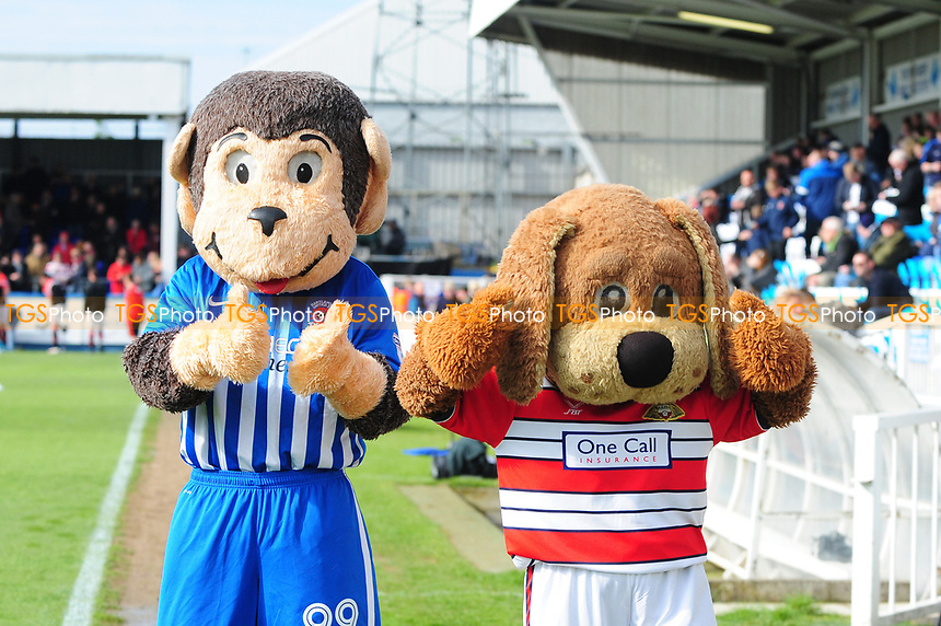 Hartlepool United nd Doncaster Rovers mascots before kick off during Hartlepool United vs Doncaster Rovers, Sky Bet EFL League 2 Football at Victoria Park on 6th May 2017
