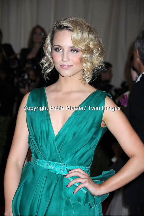 """Diana Agron attends the Costume Institute Gala Benefit celebrating """"Schiaparelli and Prada: Impossible Conversations"""".an exhibition at the Metropolitan Museum of Art in New York City on May 7, 2012."""