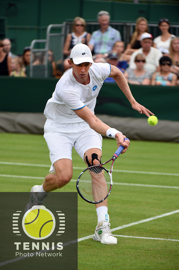 Wimbledon, 27/6/2014<br /> <br /> Kevin ANDERSON (RSA)<br /> <br /> © Ray Giubilo/ Tennis Photo Network