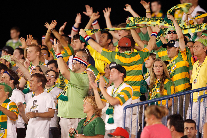 May 29, 2010; TAMPA, FLORIDA: Fans in Ralph's Mob of the FC Tampa Bay Rowdies during a match against the Puerto Rico Islanders at Steinbrenner Field in Tampa, Florida. FC Tampa Bay won 2-1. Photo by Matt May/FC Tampa Bay Rowdies