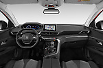 Stock photo of straight dashboard view of a 2018 Peugeot 3008 Allure 5 Door SUV