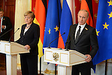 Pressekonferenz Merkel/Putin in Moskau am 10.05.