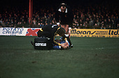 22/11/80 Blackpool v Fleetwood Town FAC 1.22/11/80 Blackpool v Fleetwood Town FAC 1.Terry Pashley receives tratment to head woun by physio Alan Smith.©  Phill Heywood.©  Phill Heywood