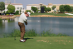 Miguel Angel Jimenez tees off on the par3 6th tee during Day 1 of the Dubai World Championship, Earth Course, Jumeirah Golf Estates, Dubai, 25th November 2010..(Picture Eoin Clarke/www.golffile.ie)