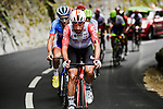 Thomas De Gendt (BEL) Lotto-Soudal leads the breakaway during Stage 6 of the 2019 Tour de France running 160.5km from Mulhouse to La Planche des Belles Filles, France. 11th July 2019.<br /> Picture: ASO/Pauline Ballet | Cyclefile<br /> All photos usage must carry mandatory copyright credit (© Cyclefile | ASO/Pauline Ballet)