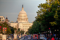 US Capitol down Constitution Avenue from Freedom Plaza Washington DC US Capitol Washington DC<br />