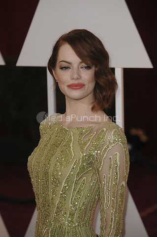 HOLLYWOOD, CA - FEBRUARY 22: Emma Stone attends 87th Annual Academy Awards at The Dolby Theater on February 22nd, 2015 in Hollywood, California. Credit: PGMP/MediaPunch