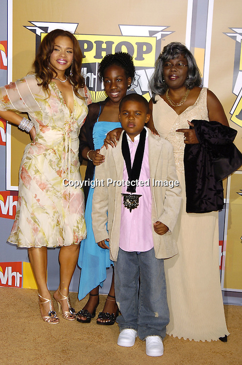 Faith Evans, Deanna, Christopher and Voletta Wallace ..at the 2nd Annual VH1 Hip Hop Honors taping on ..September 22, 2005 which will air on VH1 on September 26, 2005. ..Photo by Robin Platzer, Twin Images