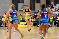 Pulse&rsquo; Karin Burger in action during the Pre Season Tournament - Pulse v Mystics at Ngā  Purapura, Otaki, New Zealand on Saturday 9 February  2019. <br /> Photo by Masanori Udagawa. <br /> www.photowellington.photoshelter.com
