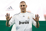 Real Madrid's new player Karim Benzema during his presentation. July 9 2009. (ALTERPHOTOS/Acero).