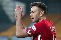 24th November 2019; McDairmid Park, Perth, Perth and Kinross, Scotland; Scottish Premiership Football, St Johnstone versus Aberdeen; Andrew Considine of Aberdeen captained the team on hsi 500th appearance - Editorial Use
