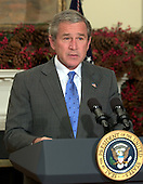 United States President George W. Bush names Carlos Gutierrez, Chief Executive Officer, Kellogg Company, as United States Secretary of Commerce replacing Donald Evans in the Roosevelt Room of the White House on November 29, 2004.<br /> Credit: Ron Sachs / CNP