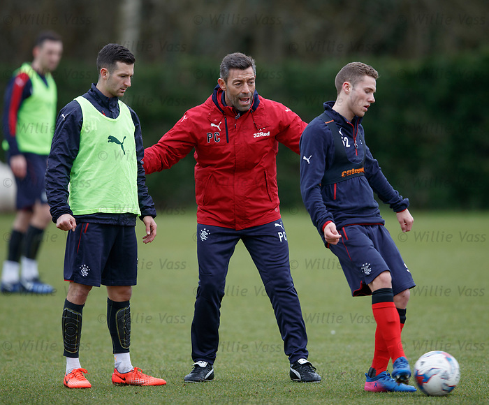 Pedro Caixinha with Jason Holt and Liam Burt
