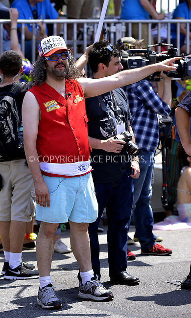 WWW.ACEPIXS.COM<br /> <br /> June 22 2013, New York City<br /> <br /> King Neptune Judah Friedlander at the 2013 Mermaid Parade at Coney Island on June 22, 2013 in New York City.<br /> <br /> By Line: Curtis Means/ACE Pictures<br /> <br /> <br /> ACE Pictures, Inc.<br /> tel: 646 769 0430<br /> Email: info@acepixs.com<br /> www.acepixs.com