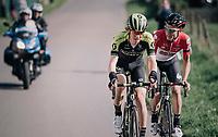 breakaway duo Jack Haig (AUS/Michelton-Scott) & Tosh Van der Sande (BEL/Lotto-Soudal)<br /> <br /> 58th De Brabantse Pijl 2018 (1.HC)<br /> 1 Day Race: Leuven - Overijse (BEL/202km)