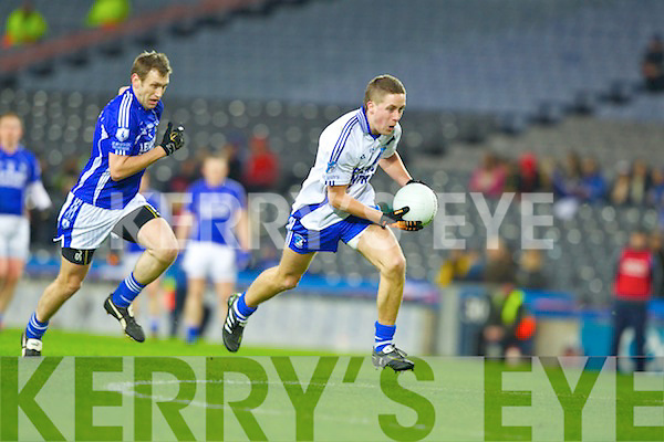 Conor Quirke Saint Mary's, Padraig Leydon Cahersiveen, v Saint Mary's, Swanlinbar in the All Ireland Junior Club Championship at Croke park on Saturday evening.