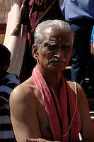 A Brahmin priest at the Shanta Durgha Temple, Ponda.