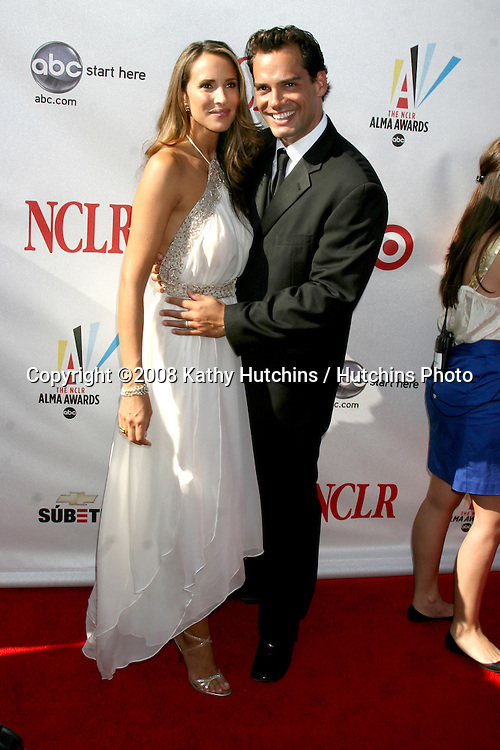 Cristian DeLaFuentes & Wife  arriving at the ALMA Awards in Pasadena, CA on.August 17, 2008.©2008 Kathy Hutchins / Hutchins Photo....