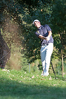 Alex Noren (SWE) in action on the 17th hole during the first round of the 76 Open D'Italia, Olgiata Golf Club, Rome, Rome, Italy. 10/10/19.<br /> Picture Stefano Di Maria / Golffile.ie<br /> <br /> All photo usage must carry mandatory copyright credit (© Golffile | Stefano Di Maria)