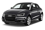 2016 Audi A1 Sport 3 Door Hatchback Angular Front stock photos of front three quarter view