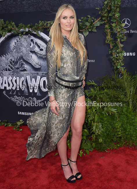 Lindsey Vonn attends The Universal Pictures World Premiere of Jurassic World held at The Dolby Theatre  in Hollywood, California on June 09,2015                                                                               © 2015 Hollywood Press Agency