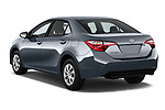 Car pictures of rear three quarter view of a 2017 Toyota Corolla L 4 Door Sedan angular rear