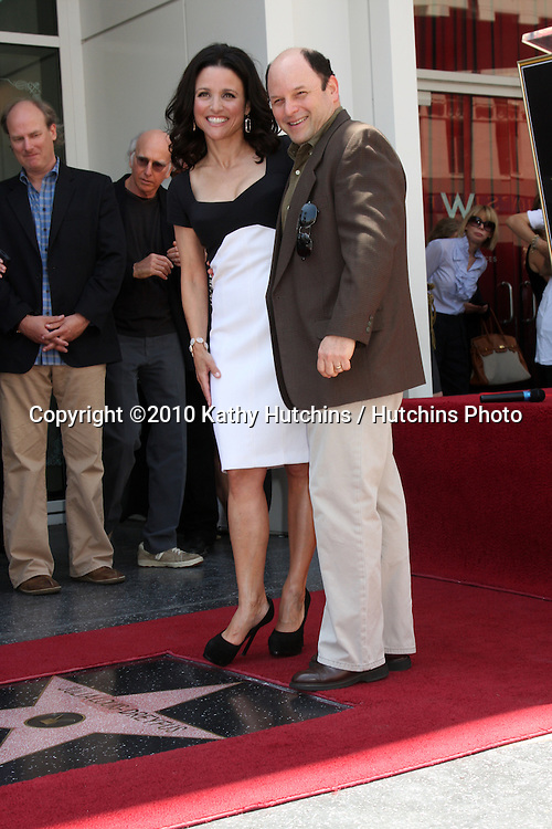 Julia Louis-Dreyfus, Jason Alexander.at the Hollywood Walk of Fame Ceremony for Julia Louis-Dreyfus.Hollywood Walk of Fame - W Hotel.Los Angeles, CA.May 4, 2010.©2010 Kathy Hutchins / Hutchins Photo...