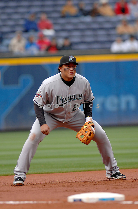 MIGUEL CABRERA, of the Florida Marlins , in action during the  Marlins game against the Atlanta Braves on April 15, 2007 in Atlanta, Georgia..Braves win 8-4...Don Kelly/ SportPics..