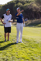 Ross Fisher (ENG) on the 18th tee during the third round of the Mutuactivos Open de Espana, Club de Campo Villa de Madrid, Madrid, Madrid, Spain. 05/10/2019.<br /> Picture Hugo Alcalde / Golffile.ie<br /> <br /> All photo usage must carry mandatory copyright credit (© Golffile | Hugo Alcalde)