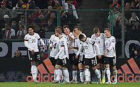 celebrate the goal, Torjubel zum 2:0 Leon Goretzka (Deutschland, Germany) - 16.11.2019: Deutschland vs. Weißrussland, Borussia Park Mönchengladbach, EM-Qualifikation DISCLAIMER: DFB regulations prohibit any use of photographs as image sequences and/or quasi-video.