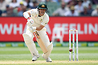 28th December 2019; Melbourne Cricket Ground, Melbourne, Victoria, Australia; International Test Cricket, Australia versus New Zealand, Test 2, Day 3; David Warner of Australia hits the ball