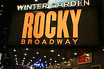 Theatre Marquee for 'Rocky Broadway' - on October 28, 2013 at The Winter Garden Theatre in New York City.<br /> The Sylvester Stallone film has inspired an innovative new stage production from director Alex Timbers , book writer Thomas Meehan and songwriting team Lynn Ahrens and Stephen Flaherty.