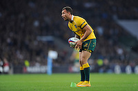 Quade Cooper of Australia takes a conversion attempt during the QBE International match between England and Australia at Twickenham Stadium on Saturday 29th November 2014 (Photo by Rob Munro)