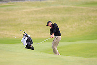 Conor O'Rourke (Naas) on the 1st during the Quarter Finals of The South of Ireland in Lahinch Golf Club on Tuesday 29th July 2014.<br /> Picture:  Thos Caffrey / www.golffile.ie