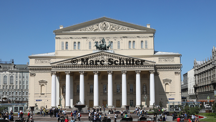 Bolschoi Theater in Moskau - 15.06.2018: Sightseeing Moskau