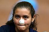 Ang&raquo;lica Montero de Norte de Santander saca durante un partido de dobles mixtos de tenis de mesa contra la pareja de Lady Vidales y Santiago Tobar de Tolima en el coliseo el Salitre  en las finales nacionales de Sup&raquo;rate Intercolegiados en Bogot&sum; el 26 de octubre de 2014.<br /> Foto: Joaquin Sarmiento/Archivolatino para Sup&raquo;rate Intercolegiados, Coldeportes<br /> <br /> COPYRIGHT: Sup&raquo;rate, Coldeportes. <br /> Prohibida su venta y su uso comercial sin autorizaci&euro;n