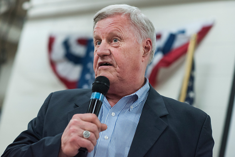 UNITED STATES - OCTOBER 27: Rep. Collin Peterson, D-Minn., speaks during a fish fry and fundraiser for Rep. Rick Nolan, D-Minn., at the Northland Arboretum in Baxter, MN, October 27, 2016. Nolan is running for reelection in Minnesota's 8th Congressional District. (Photo By Tom Williams/CQ Roll Call)