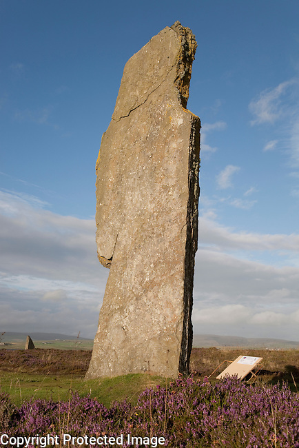 Individual Stone at the Ring of Brodgar in the Orkney Islands, Scotland