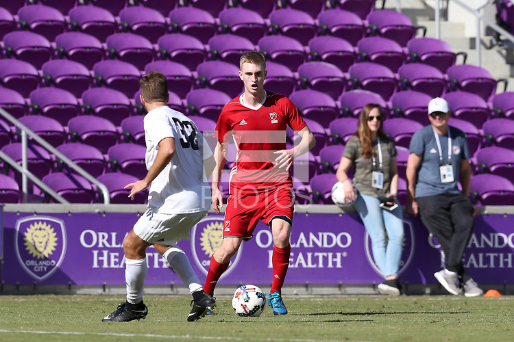 Orlando, Florida - Wednesday January 17, 2018: Nate Shultz. Match Day 3 of the 2018 adidas MLS Player Combine was held Orlando City Stadium.