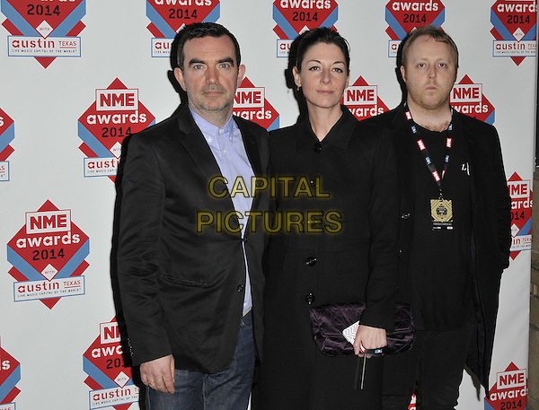 LONDON, ENGLAND - FEBRUARY 26: Simon Aboud, Mary McCartney &amp; James McCartney attend the NME Awards 2014, O2 Academy Brixton, Stockwell Rd., on Wednesday February 26, 2014 in London, England, UK.<br /> CAP/CAN<br /> &copy;Can Nguyen/Capital Pictures<br /> <br /> CAP/CAN<br /> &copy;Can Nguyen/Capital Pictures
