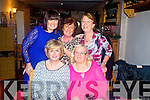 Enjoying Women's Christmas at Bella Bia restaurant, Tralee, on Monday night were front l-r: Anne O'Donnell (Tralee) and Geraldine Harrington (Tralee). Back l-r: Hilda Templeman (Cordal, Castleisland) Bibi Kelly (Oakpark, Tralee) and Janice Quirke (Tralee).
